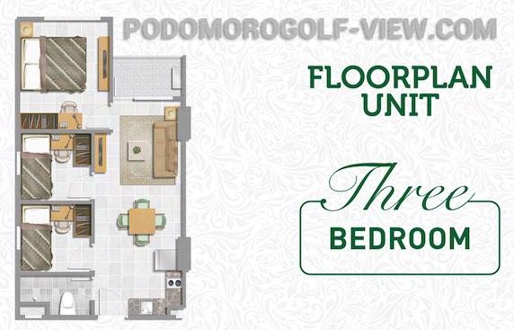 Apartemen Podomoro Golf View Depok Tipe 3 BR