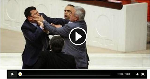 تشاجر بالأيدي و لكمات بين أنصار السبسي و أنصار حامد القروي وسط مقبرة الزعيم بورڨيبة
