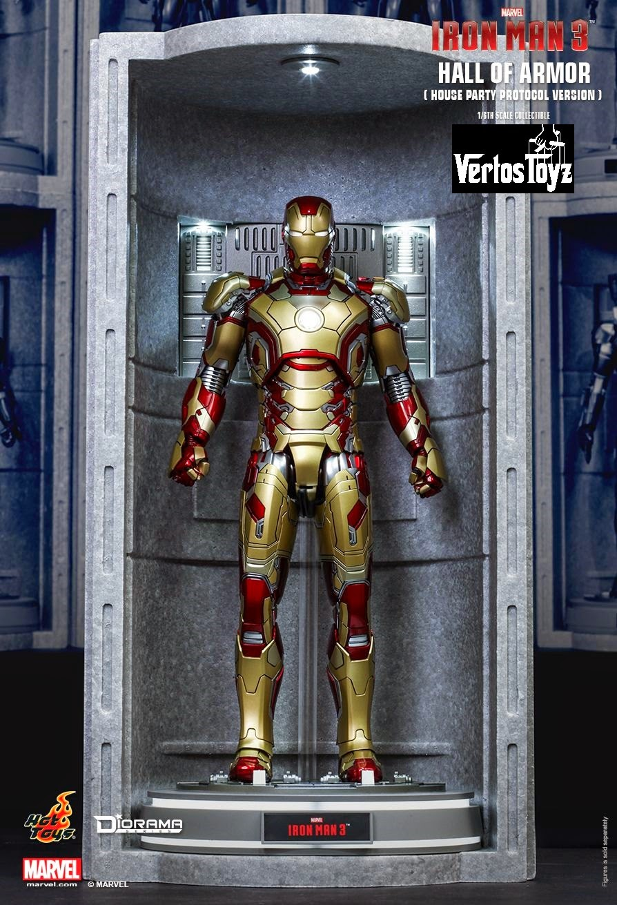 Pre Order Hot Toys Iron Man 3 Hall of Armor (House Party Protocol Version) 1/6th scale Collectible