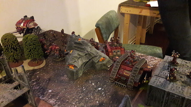 Loyalist Emperor's Children vs Traitor Word Bearers Battle Report in Prose