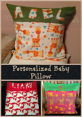 easy to sew personalized pillow