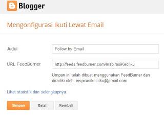 Ikuti lewat email