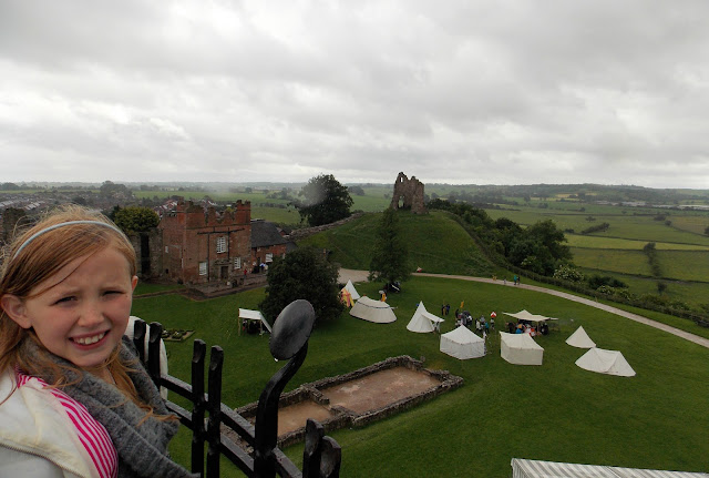 looking out over tutbury castle view from tower
