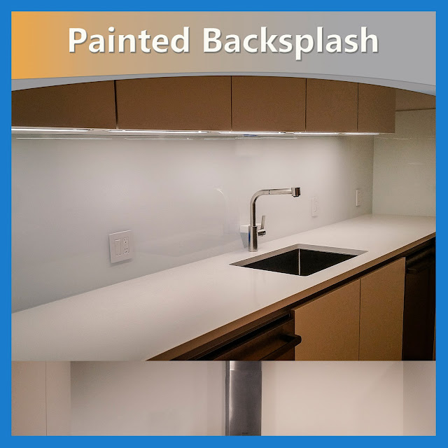 Painted Backsplash