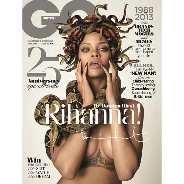 Rihanna convertida en Medusa