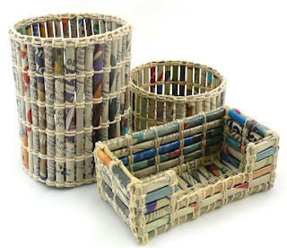 cara membuat kerajinan keranjang pakaian dari koran bekas