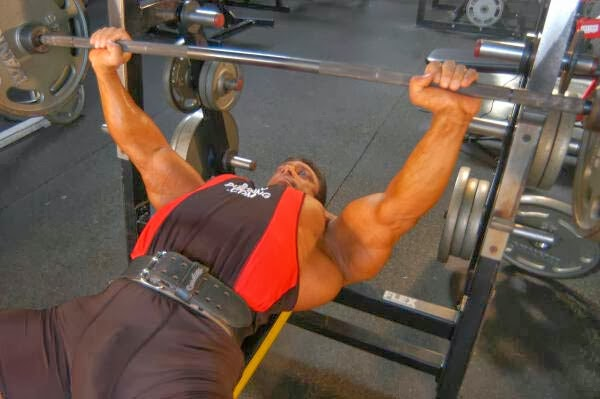 Bench press with proper technique so you can bench more weight without