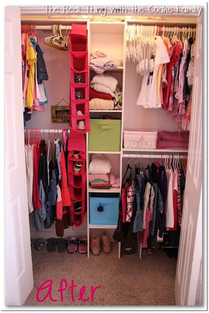 Kids closet organizing ideas the real thing with the coake family - Organizing small closet space photos ...