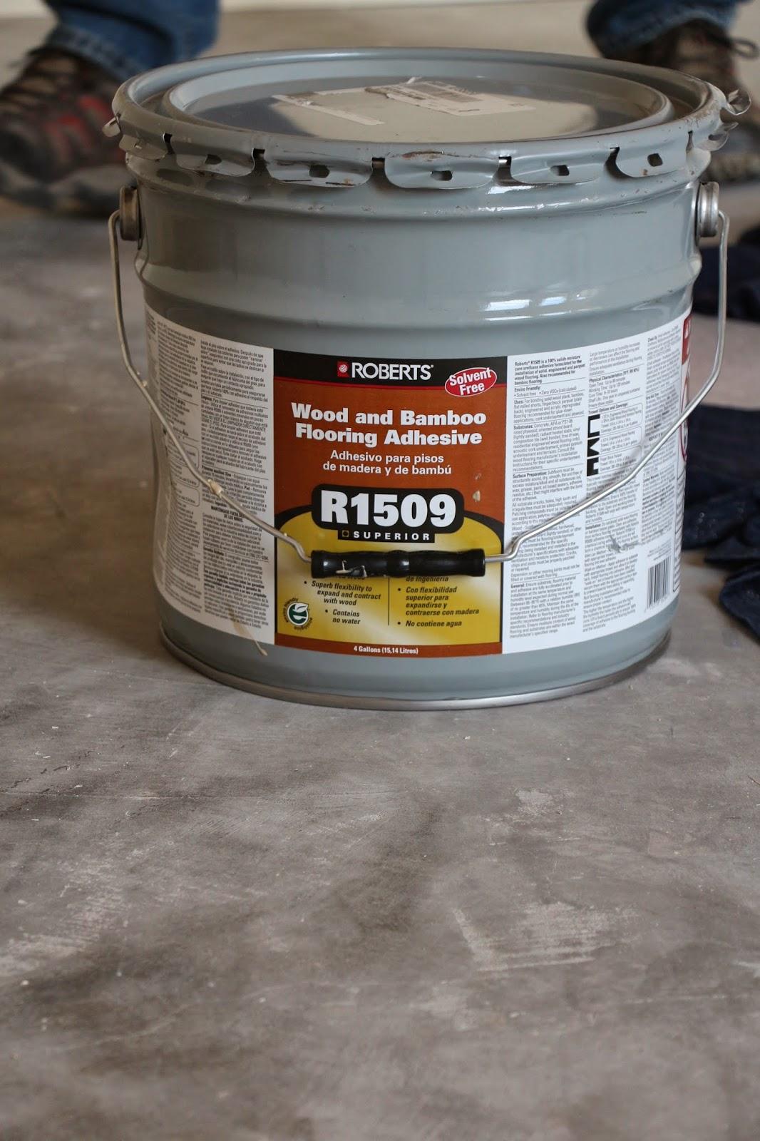 wood floor glue