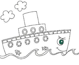 Risco para pintura de barco