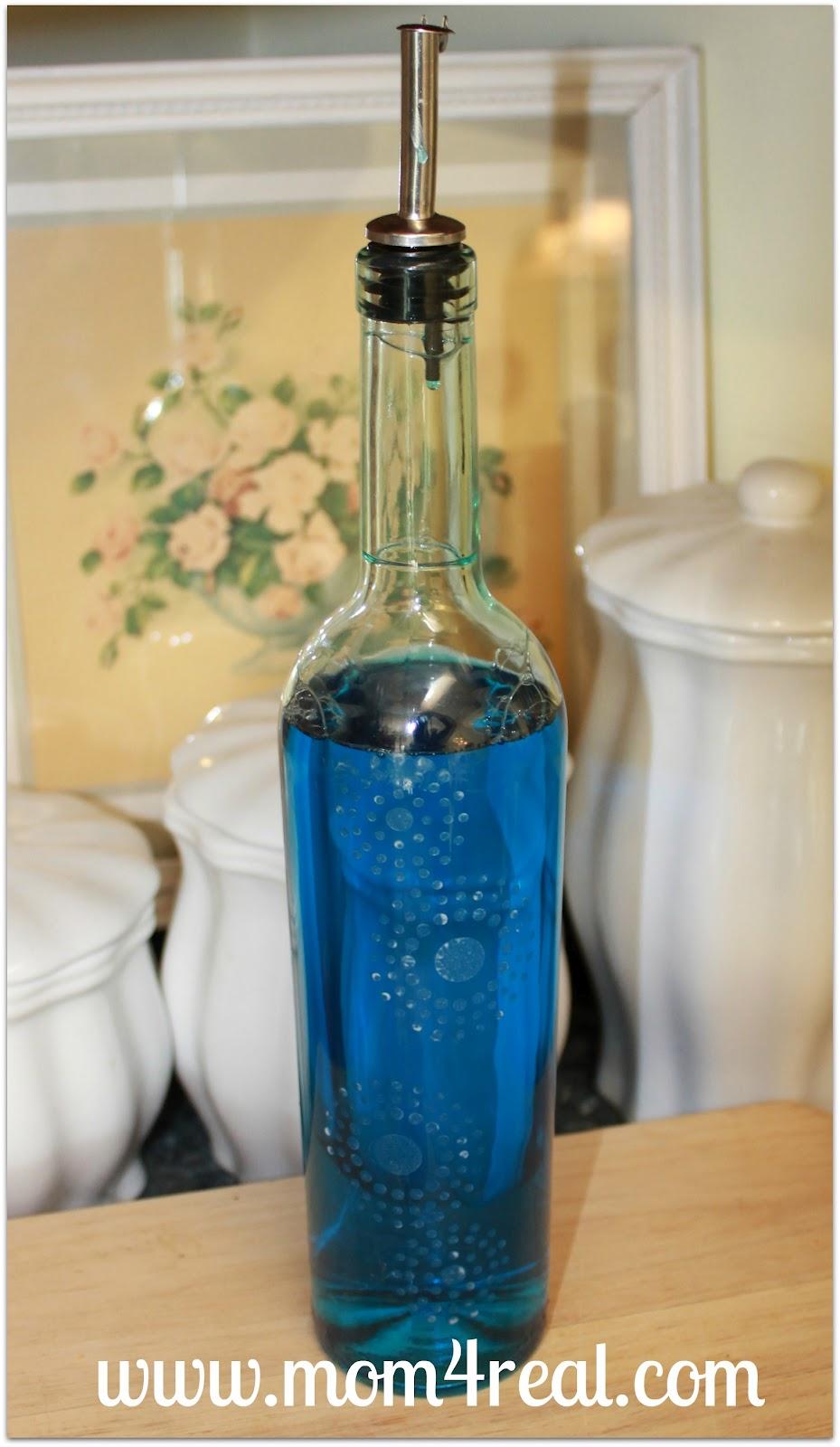 Dishwashing Liquid Dispenser ~ Mom real shares a wine bottle soap dispenser unskinny boppy