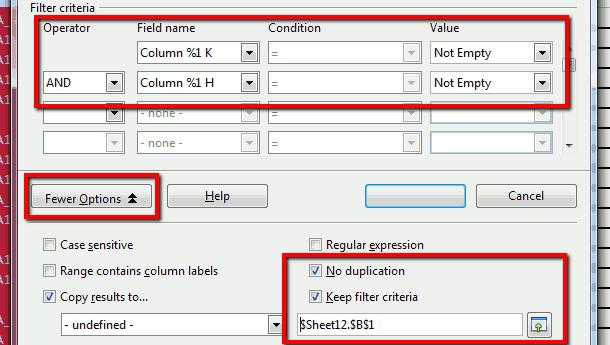 libreoffice calc remove duplicate