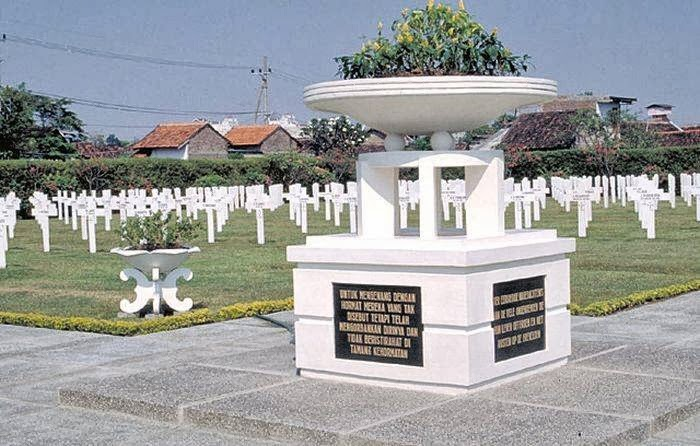 The Pandu war cemetery at Bandung, Indonesia