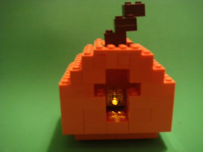 Lego Creation, Light Up Pumpkin Lego Creation