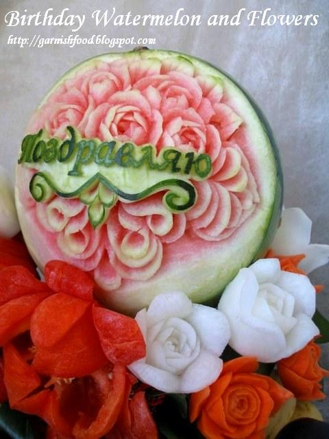 watermelon carving and vegetable carving art
