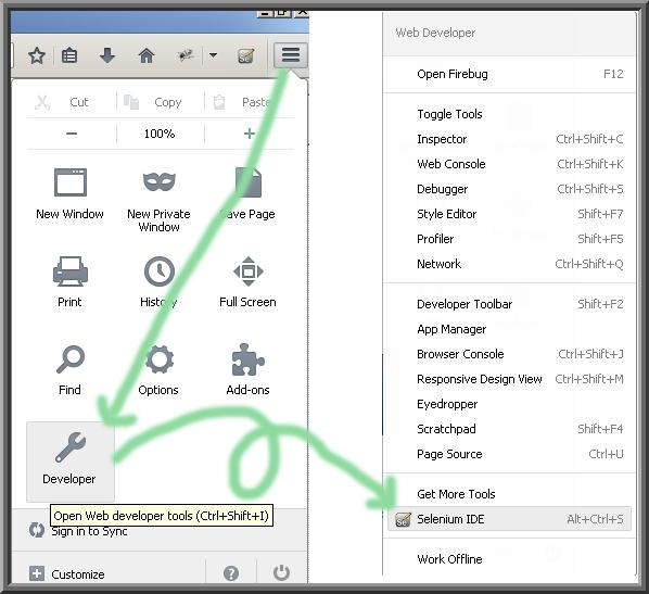 Finding IDE in Firefox