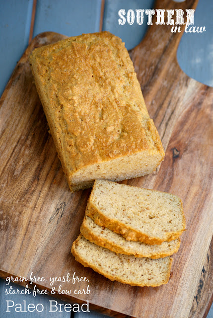 Yeast Free Paleo Bread Recipe - gluten free, low carb, grain free, yeast free, starch free, paleo