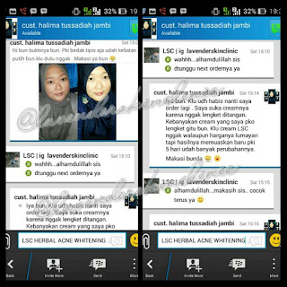 Testimonial Cream Herbal Acne Whitening