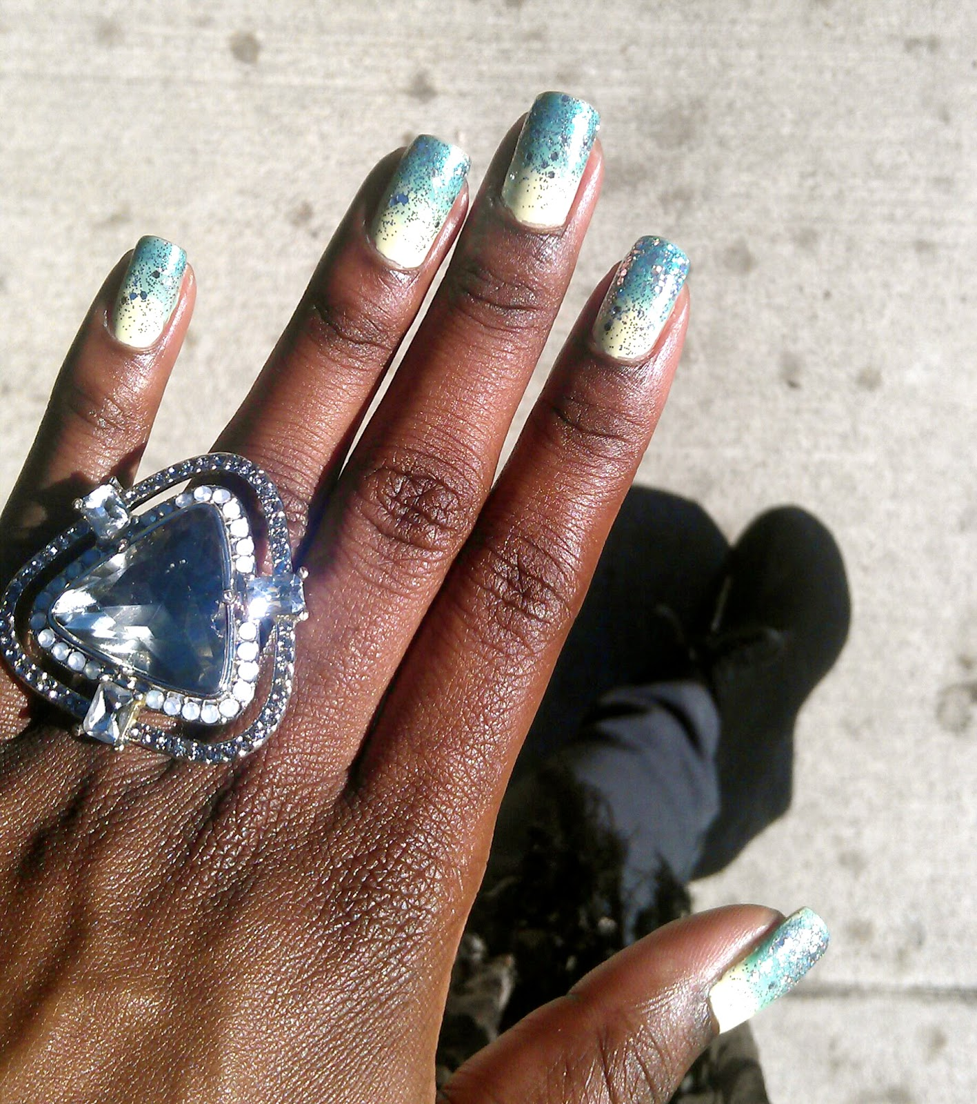 Ombre Nail Design Without Sponge