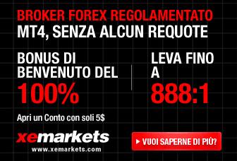XEMarkets opinioni 2013: bonus del 100% e Metatrader 1