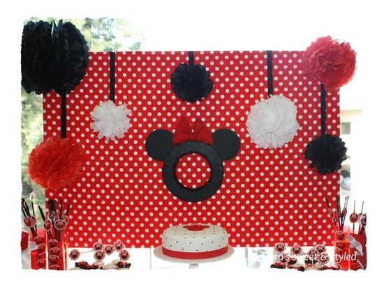 Decoracion Minnie Roja ~ IDEAS PARA FIESTAS  Ideas para fiesta de Mickey y de Minnie