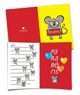 cartão do ratinho