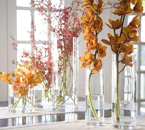 Floreros de vidrio para centros de mesa lodijoella - Centros decorativos modernos ...