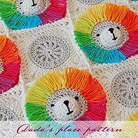 Rainbow Lion Baby Blanket Pattern