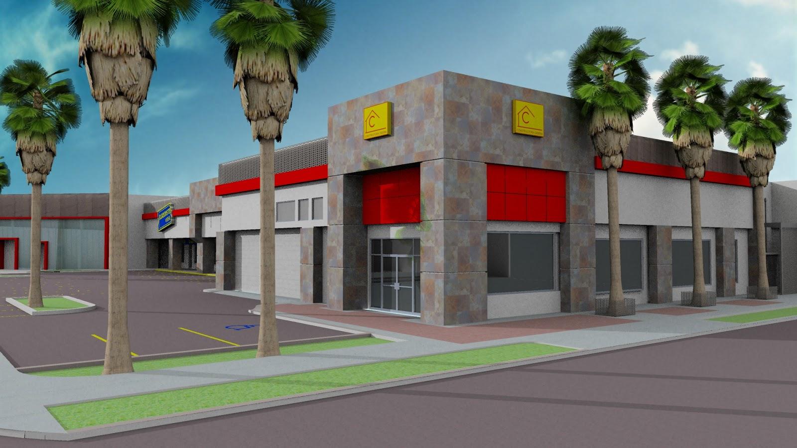 Remodelaci n del centro comercial caliente constructora cadena mexicali b c - Proyecto local comercial ...