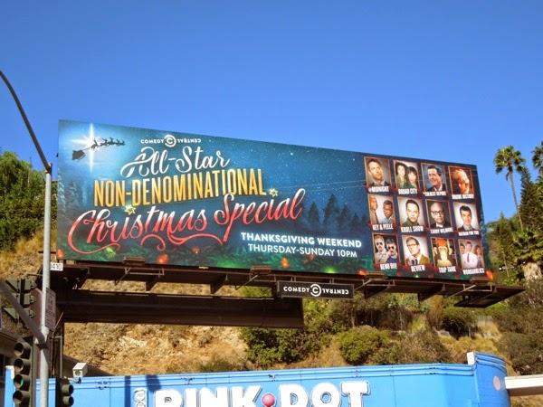 Comedy Central Non-Denominational Christmas Special billboard