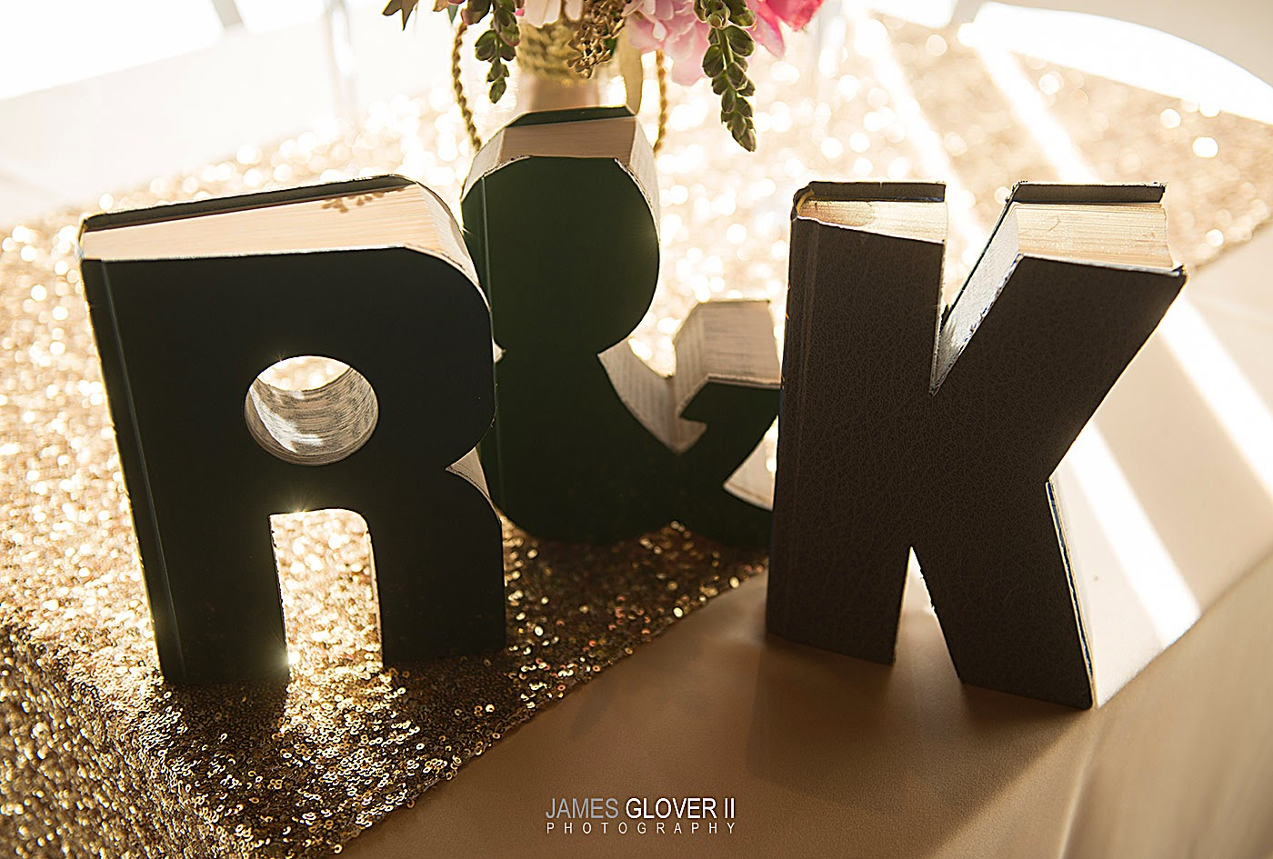 R&K Carved Book Wedding Sign // Nevada Museum of Art wedding // James Glover Photography // Take the Cake Event Planning