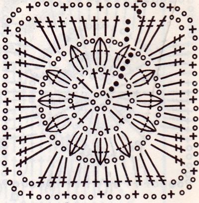 Как связать ажурный квадратик