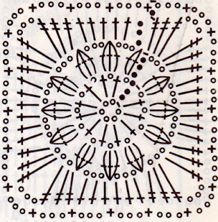 Как связать ажурный квадратик крючком (третий вариант квадратика)?