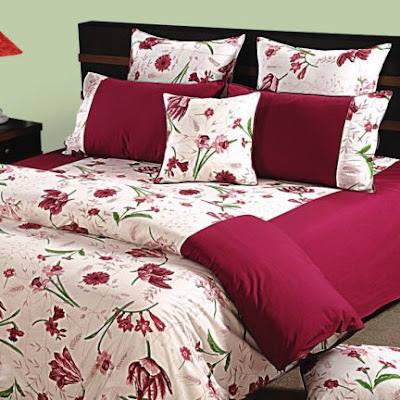 Printed Bed Sheet in Hot Pink