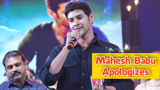 Mahesh Babu Apologizes to his Fans in Srimanthudu Audio Release