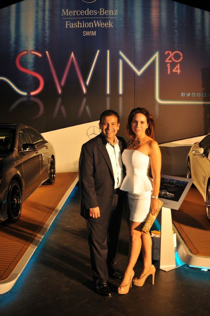 Rodman Martinez and his wife at MBFWS 2014