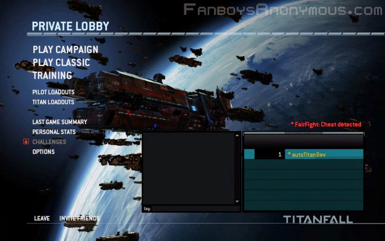 aimbot banned players Titanfall private lobby menu