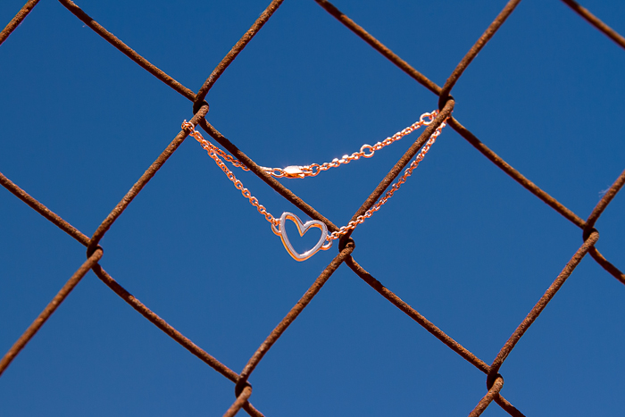 Rose Gold Silhouette Heart Bracelet: HEART Collection by CHAVIN Jewellery