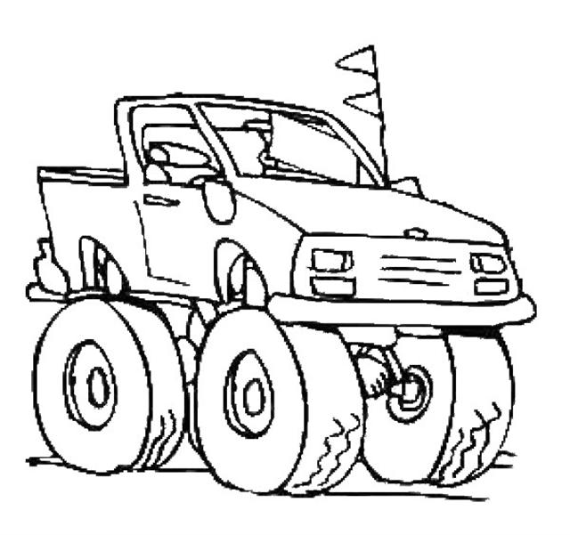 Monster Truck Coloring Pages - Free Coloring Pages Printables for Kids