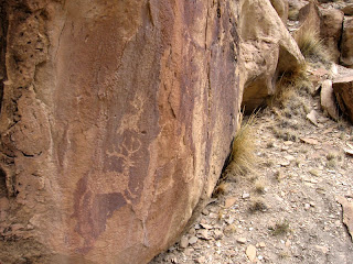 Palisade Rim Trail petroglyphs of deer or elk