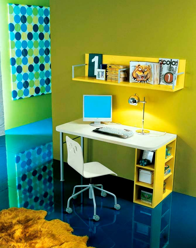 Tags: Kids Room Decoration, Study Table Ideas, Placement Of Study Table, Kids  Bedroom, Modern Study Table Ideas, Children Study Area In Bedroom. Part 14