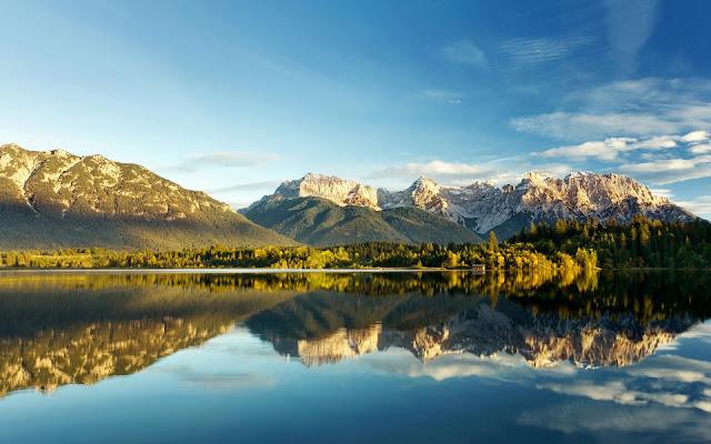 Barmsee Mountain Lake Landscape