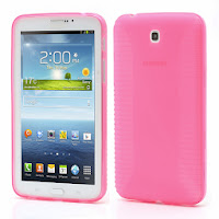TPU Jelly Case Cover for Samsung Galaxy Tab 3 7.0 P3200 P3210 - Pink Transparant