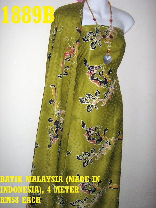 BM 1889B: BATIK MALAYSIA (MADE IN INDONESIA), 4 METER