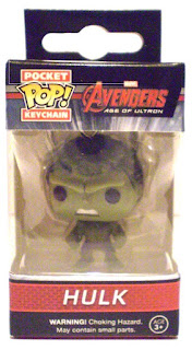 Front of Hulk Pocket Pop Keychain in box