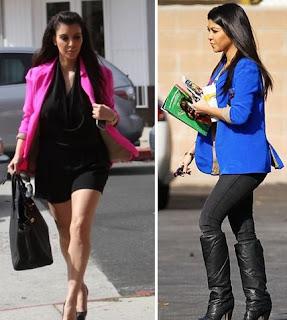 Kim Kardashian Neon Blazer