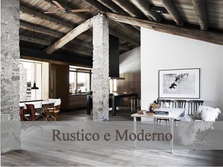 Arredamento Moderno E Rustico : Uno chalet rustico e moderno di arredamento e interni