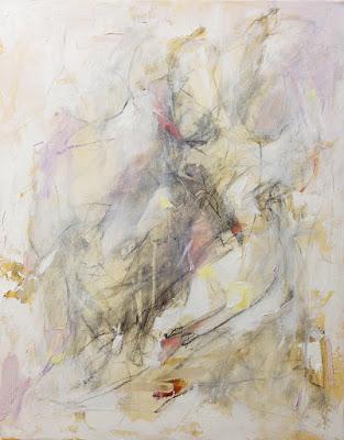 Figurative abstract by artist Karri McLean Allrich, 30x24, White Figure