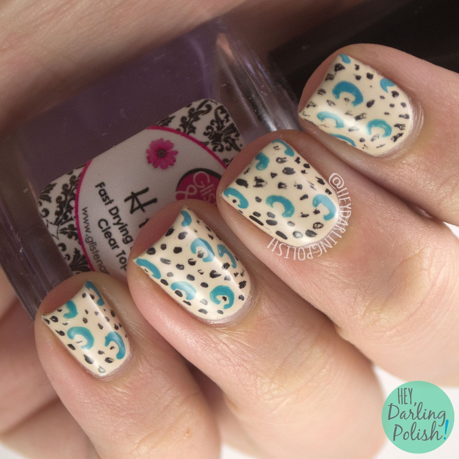nails, nail art, nail polish, hey darling polish, pattern, 31 day challenge, 31dc2014