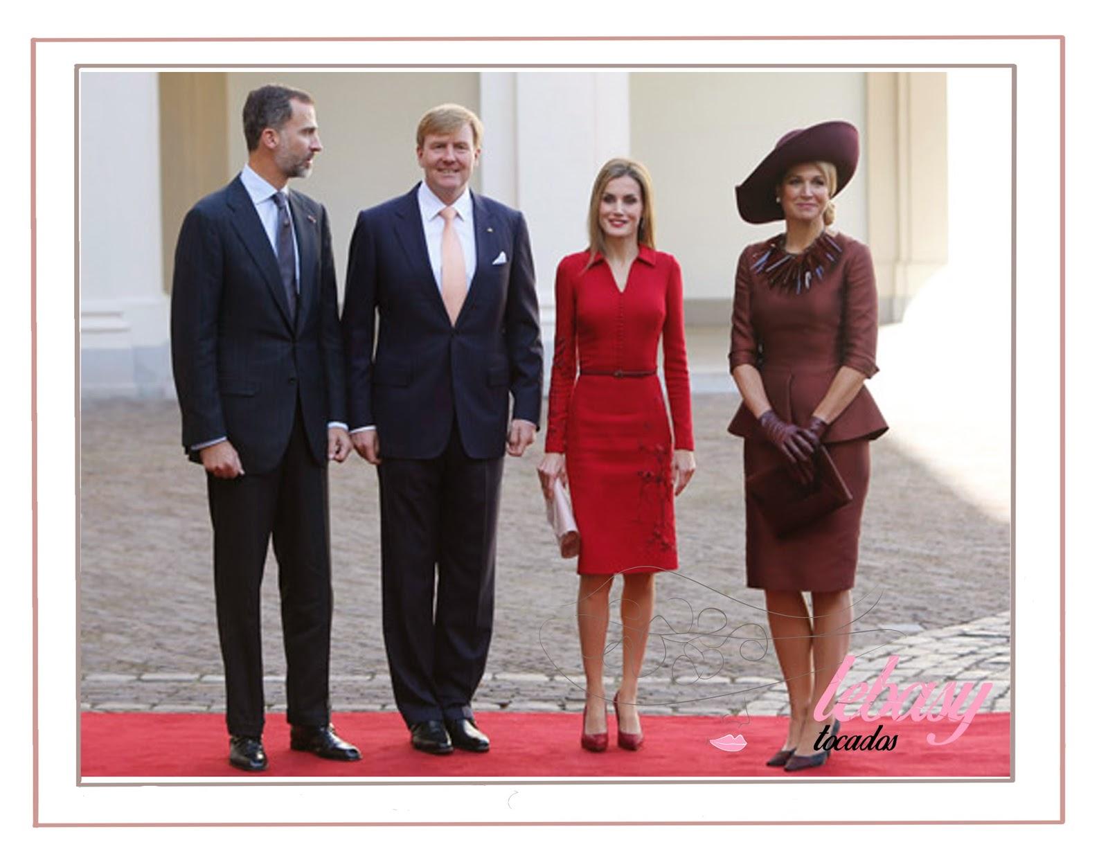 Reyes de España y Holanda